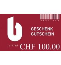 Geschenkgutschein zu CHF 100.00
