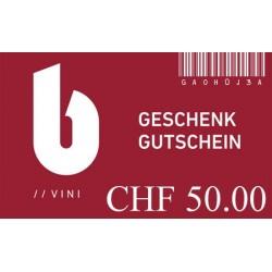 Geschenkgutschein zu CHF 50.00