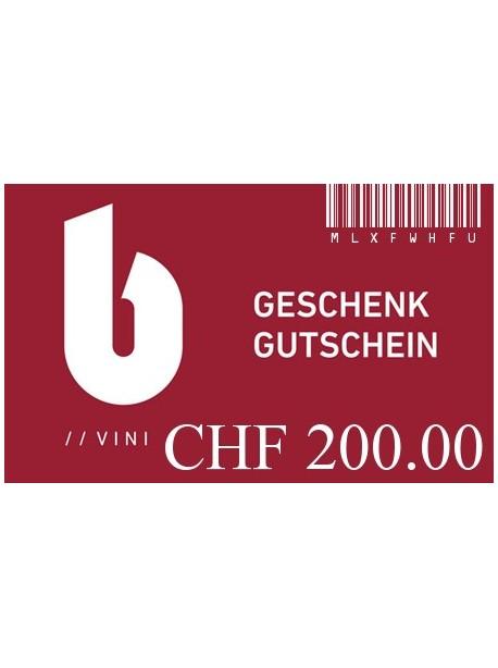 Geschenkgutschein zu CHF 200.00